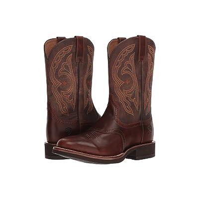 Ariat Quantum Crepe (Vintage Caramel/Tack Room Chocolate) Cowboy Boots