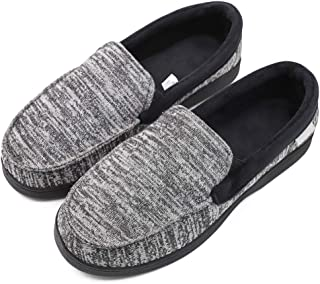 Mwfus Women's Comfy Velvet Cotton Moccasin Slippers with Memory Foam Breathable House Shoes Anti-Skid Indoor/Outdoor