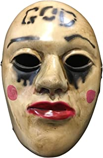 Fibreglass - Halloween Deluxe Purge 'God' Anarchy Universal Size Mask - Buckle Strap