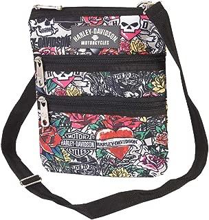 Harley Davidson X-Body Sling Backpack, Tattoo, One Size
