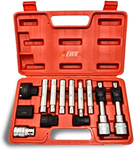 EWK Alternator Decoupler Clutch Freewheel Pulley Removal Tool Kit 13PC
