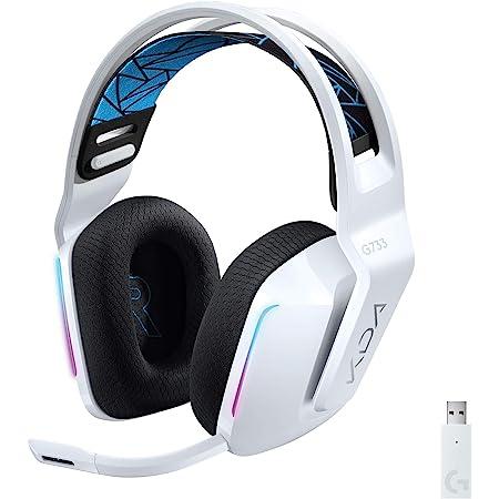 Logitech G733 K/DA LIGHTSPEED Auriculares Inalámbricos para Gaming con Diadema, 16,8M Color LIGHTSYNC RGB, Micro Blue VO!CE y controladores de audio PRO-G, League of Legends, PC/PlayStation - Blanco