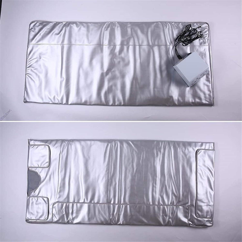 4YANG Couverture de sauna infrarouge lointain argent/ée Body Shaper Couverture minceur de sauna de perte de poids Machine de th/érapie de d/ésintoxication pour Personal Spa 2 Zone