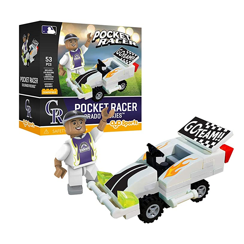 Colorado Rockies OYO Sports Toys Pocket Racer Set with Minifigure 53PCS
