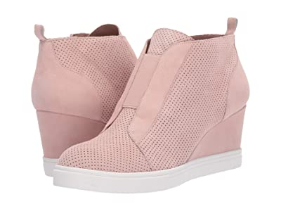LINEA Paolo Felicia Wedge Sneaker (Blush Perforated Suede) Women
