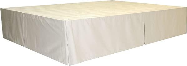 DuraBed Steel Platform Bed Frame Decorative Bed Skirt Full Ivory