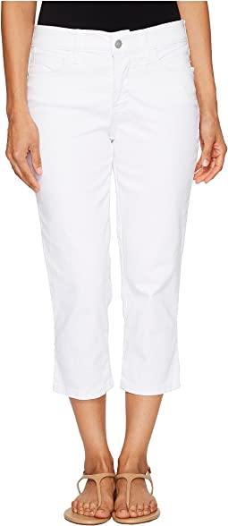 Petite Alina Capris in Optic White