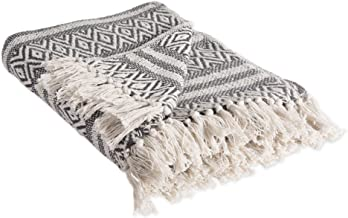 DII Rustic Farmhouse Cotton Adobe Stripe Blanket Throw with Fringe For Chair, Couch, Picnic, Camping, Beach, & Everyday Use , 50 x 60
