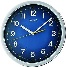 Seiko Plastic Wall Clock (31.1 cm x 31.1 cm x 3.9 cm, Blue)