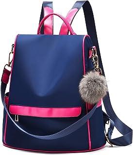 Women Backpack Purse Nylon Anti-theft Fashion Casual Lightweight Travel School Shoulder Bag