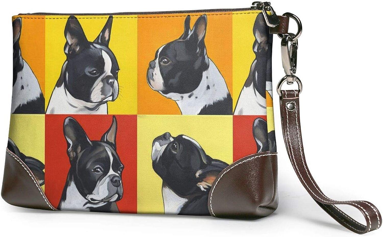 Cute Pug Clutch Purses National uniform free shipping Columbus Mall Wristlet Han Wallet Leather