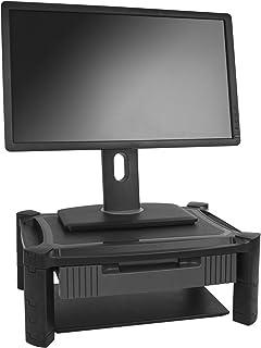 "StarTech.com Adjustable Monitor Riser - Drawer - Monitors up to 32""- Adjustable Height - Monitor Stand - Computer Monitor ..."