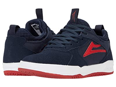 Lakai Proto (Little Kid/Big Kid) (Navy Suede) Men