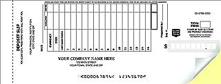 CheckSimple 15-Line Booked Custom (2-Part) Deposit Slips (150 Slips)