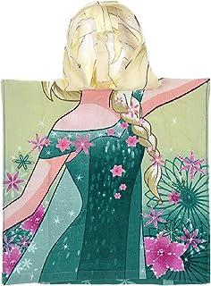 e8f4cc777926b La Reine des Neiges Cape de Bain Capuche Enfant Fille Elsa Vert (2-6ans