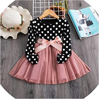 Toddler Kids Long Sleeve Dresses for Girls Princess Winter Party Tutu Gown Children Clothing