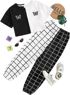 Romwe Women's Ruffle Hem Spaghetti Strap Cami Tops with Pant Pajama Set