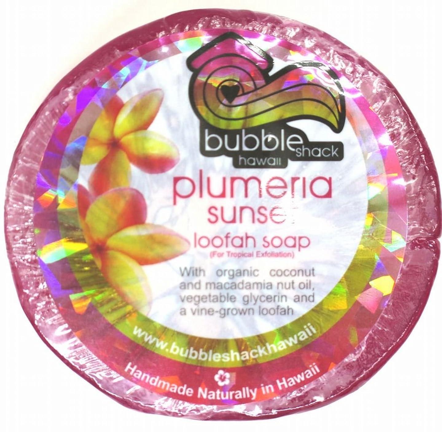 知り合いになるマイナーヘルパーハワイアン雑貨/ハワイ 雑貨【バブルシャック】Bubble Shack Hawaii ルーファーソープ(プルメリア) 【お土産】
