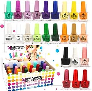 Set De 24 Esmalte De Uñas 24 Colores Diferentes Botella