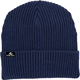 Joe's USA Koloa Surf Heavyweight Watch Hat Knit Ribbed Beanie Cap in 4 Colors