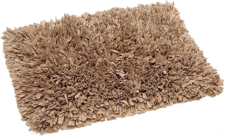 FHE Group Tissue Rug Bath Mat, 45 by 27 Inches, Beige