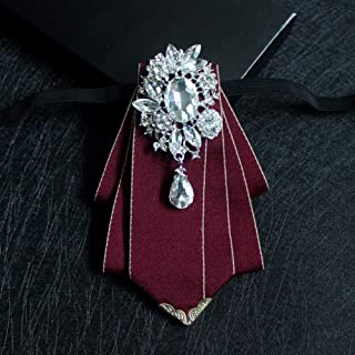 Crown Eagle Pattern Col Broche Strass Bijoux Broche Pour Hommes Accessoires