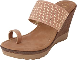 Catwalk Women's Nude Wedge Sandals Fashion