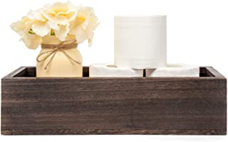 Mkono Bathroom Decor Box Toilet Paper Holder Wood Tank Box Storage Basket with Mason Jar..