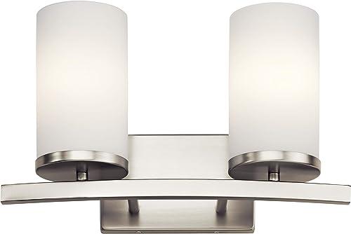 wholesale Kichler 45496NI Two outlet online sale Light Bath, 2, wholesale Brushed Nickel online
