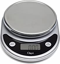 Ozeri ZK14-S Pronto Digital Multifunction Kitchen and Food Scale, 8.25, Black