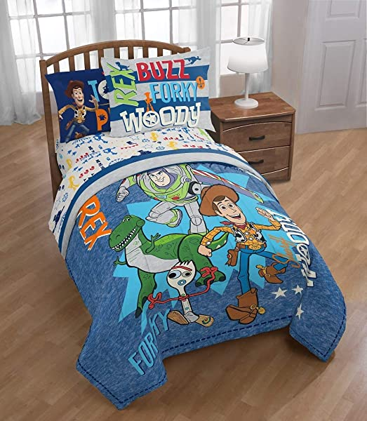 Franco Toy Story 4 Twin Full Comforter And Reversible Sham Set