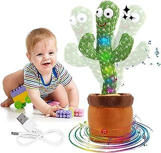 (Amazon's local Ship) Electronic Shake Dancing Cactus Plush Toys, Funny Early Childhood Education Toy for Kids Plush Danci...