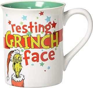 resting grinch face coffee mug
