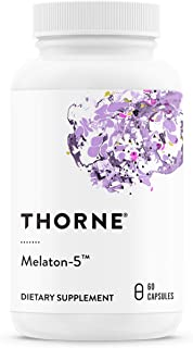 Thorne Research - Melaton-5 - Melatonin Supplement (5 mg) to Promote Sleep and Relaxation - 60 Capsules