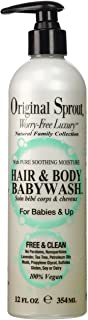 Original Sprout Hair and Body Baby Wash. Organic Vegan Baby Shampoo and Body Wash for Sensitive Skin. 12 ounce