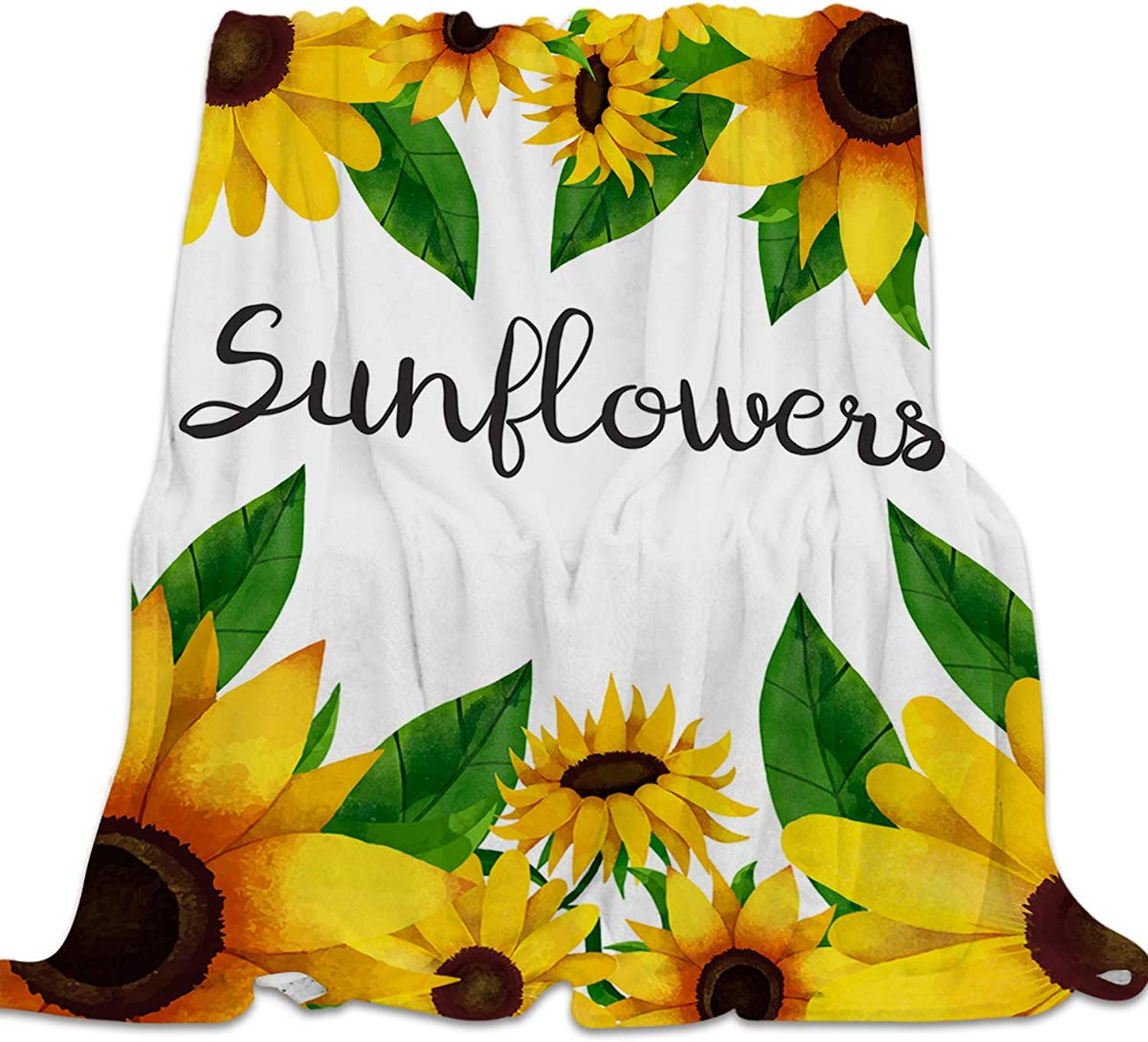YEHO Art Gallery Flannel Fleece Bed Blanket Soft Throw-Blankets for Kids Adult,colorful Sunflowers Pattern,Comfort Blankets for Sofa Couch Bedroom Living Room Decor,39x49inch