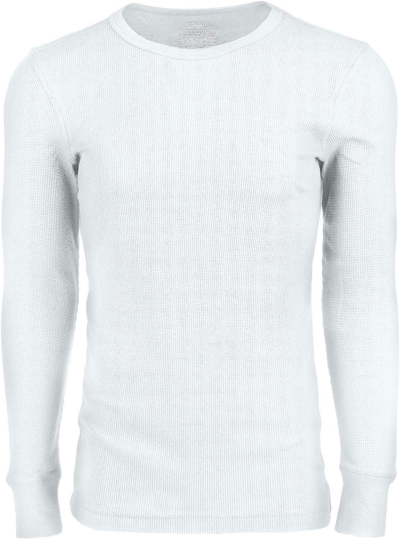 Alfani Mens Underwear Medium Crewneck Long Sleeve Knit Thermal White M