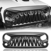 IBACP Matte Black Shark Style Front Gladiator Grille Grid Grill for 2017-2018 Jeep Wrangler JK Rubicon Sahara Sport Front Shark Face