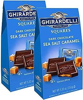 Ghirardelli Dark and Caramel Sea Salt, Chocolate Squares, 5.32 oz. (Pack of 2)