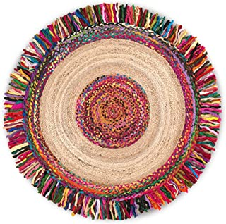 Rugs Carpet Round Carpet Coffee Table mat Living Room Carpet Bedside Carpet Factory (Color : Yellow, Size : 140 cm (55 inches))