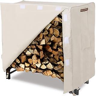 SONGMICS Heavy Duty Log Rack Cover Waterproof Firewood Cover 4ft UGLC48M