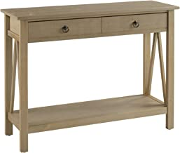 Linon Titian Rustic Gray Console Table, 42W x 13.98D X 30.7H, Driftwood