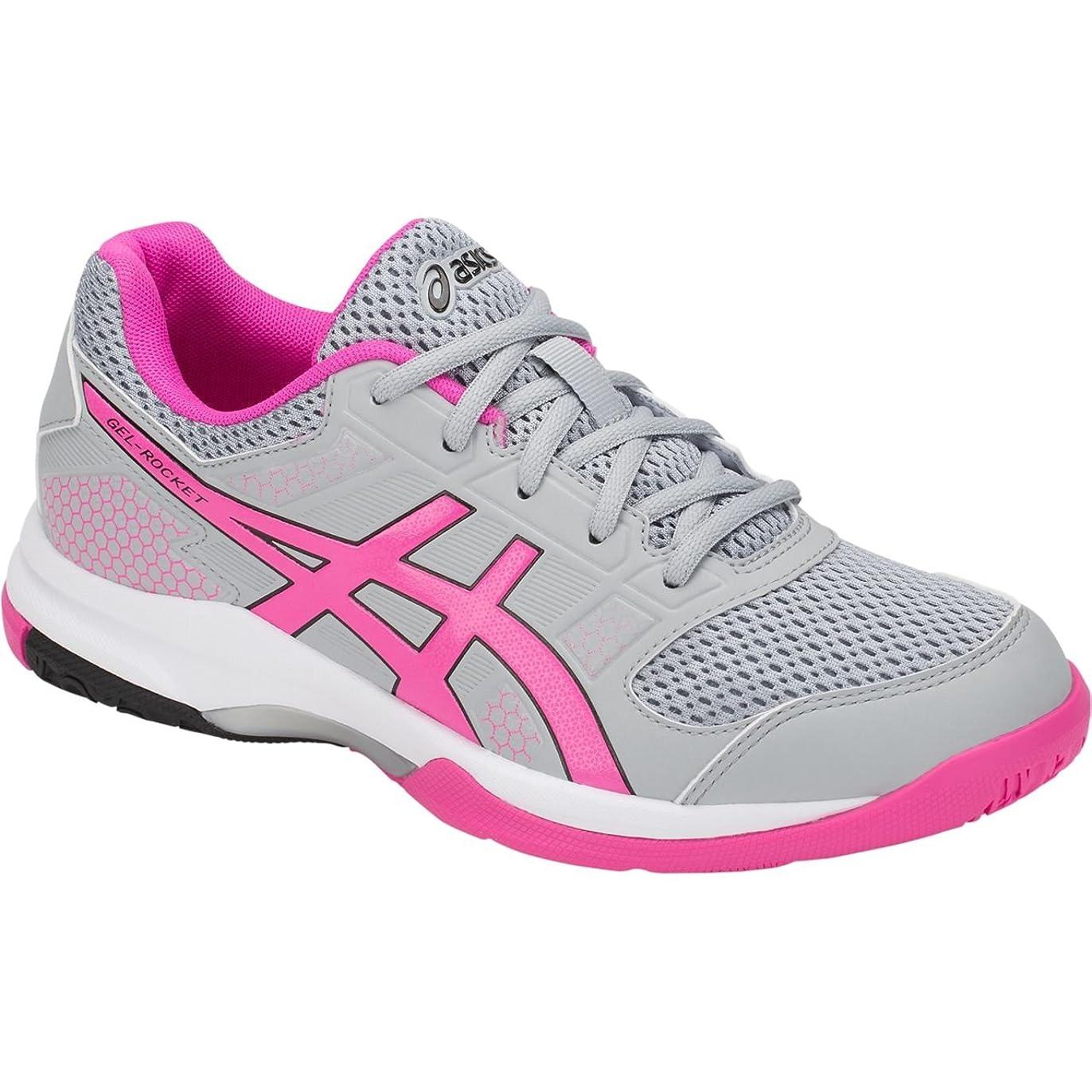 ベックスアボートラベル[アシックス] レディース 女性用 シューズ 靴 スニーカー 運動靴 Gel-Rocket 8 - Mid Grey/Pink Glo [並行輸入品]