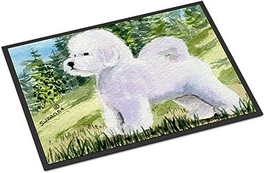 """Caroline's Treasures SS8900JMAT Bichon Frise Indoor or Outdoor Doormat, 24"""" x 36"""", Multicolor"""