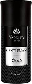 Yardley Gentleman Classic Deodorant Body Spray, Modern masculine fragrance, Citrus, Balck Pepper and spicy notes, 150ml