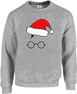 Funny Inspired Retro Pot Head Glasses Lightning Scar Santa Hat Sweatshirt