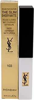 Yves Saint Laurent Rouge Pur Couture The Slim Sheer Matte Lipstick 0.07 oz, 103 Orange Provocant