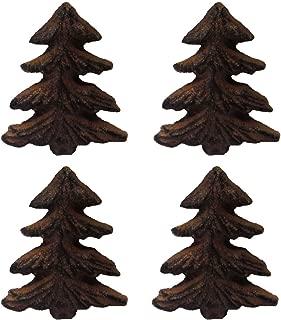 Rustic Pine Tree Metal Drawer Pulls or Bars (Set of Four Knobs)