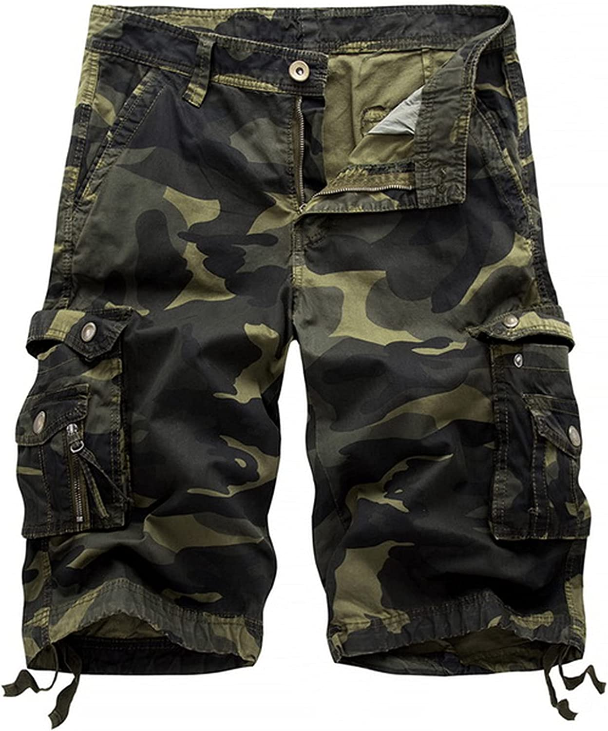 Zutty Summer New Mens Casual Beach Shorts Camouflage Cargo Male Loose Work Man Military Short Pants Oversize