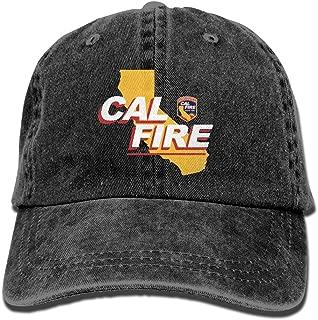 FS&DMhcap California Strong Cal Fire Logo Unisex Adjustable Cotton Denim Hat Washed Retro Gym Hat Cap Hat
